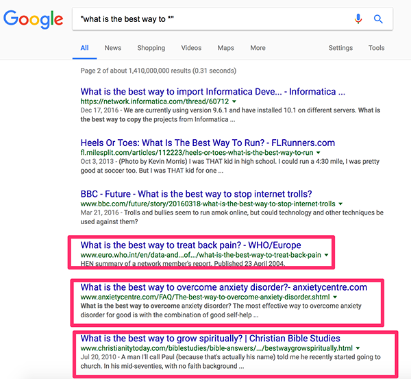 Finding Niches With Google