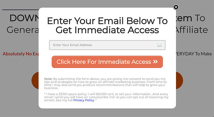 Squeeze Page For Affiliate Marketing